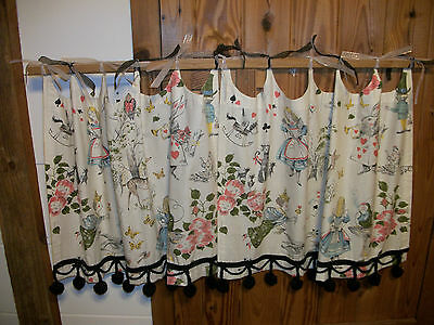 Curtains Ideas alice in wonderland curtains : Vintage Alice In Wonderland curtains • $20.50 - PicClick