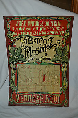 Vintage 1930/40's Tobacco Matches and Shroud Tin Sign/Plaque Advertising Lisbo