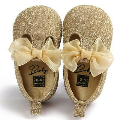 Baby Soft Sole Leather Shoes Newborn Girl Toddler Crib Moccasin  Prewalker  New