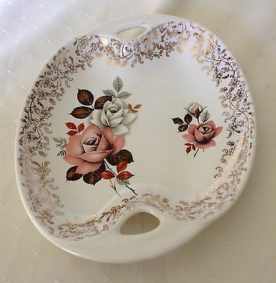 Lord Nelson - Oval Shaped - Bowl/Dish - Cream With Roses And Gold Leaves