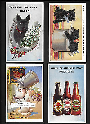 Vintage Postcard - Eighteen Different Fold Outs - Free Postage