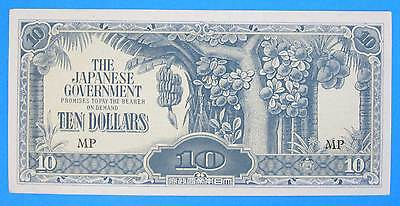1944 Malaya & Borneo 10 Dollars JIM Japanese Invasion Money UNC Last Series MP