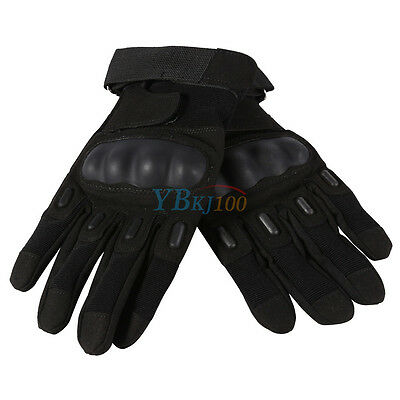 Outdoor Hunting Shooting Motorcycle Military Airsoft Army Tactical Gloves Black