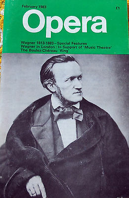 Opera Magazine, February 1983, Wagner 1813-1883 Special Features