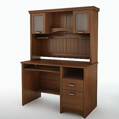 Small South Shore Furniture Gascony Collection, Small Wood Desk, New