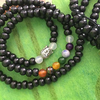 Mala Beads 108 Beads with Chakra & Buddha Head