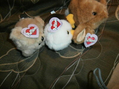 3 Puffkins Eagle Rabbit Bear All With Tags