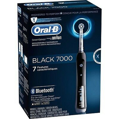 New Oral-B Black 7000 Bluetooth Electric Toothbrush with Smartguide SEALED