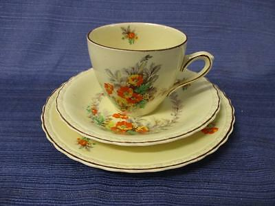 "Vintage MYOTT Staffordshire England ""Cecile"" Trio Cup Saucer Plate #2"