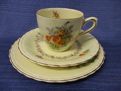"Vintage MYOTT Staffordshire England ""Cecile"" Trio Cup Saucer Plate #4"