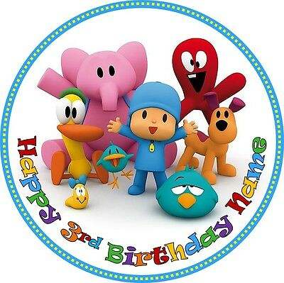 EDIBLE Pocoyo Cake Topper Birthday Party Wafer Paper 19cm (uncut)