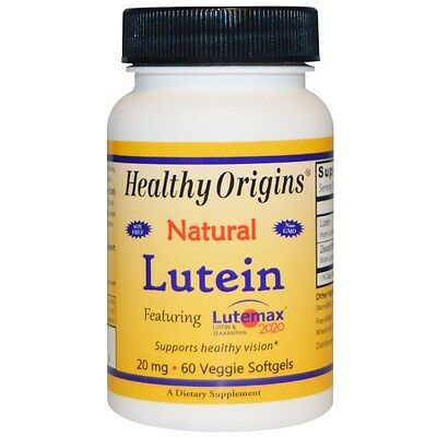 LUTEIN NATURAL FROM MARIGOLD + ZEAXANTHIN  20 mg x 60 VISION EYE CARE HEALTH