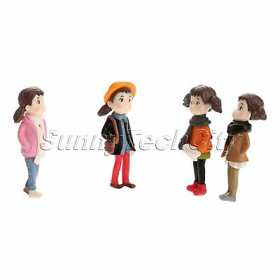DIY Miniature Human People Girl Garden Terrarium Figurine Bonsai Dollhouse Décor