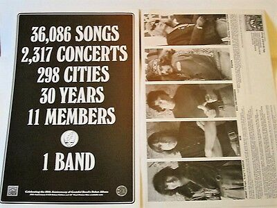 Grateful Dead - S/T LP Promotional Poster 50th Anniversary RARE double sided