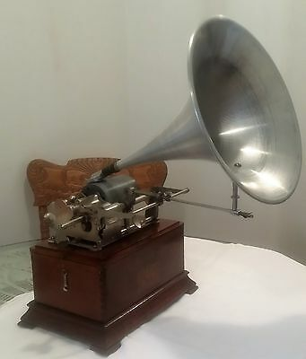 1903 Pathe Le Coq Model 1-- Reversible Box--Dual Cylinder Phonograph/gramophone