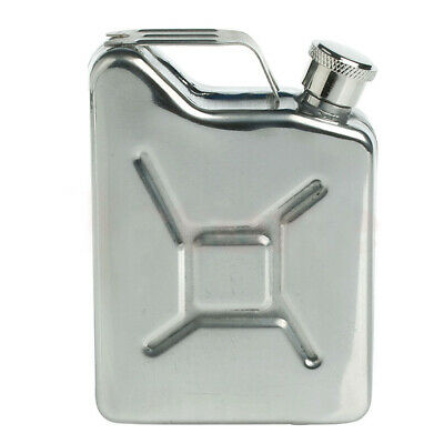 5oz Stainless Steel Jerry Can Hip Flask Liquor Whisky Pocket Bottle New