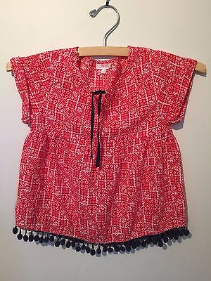 Girls Size 3-4 'seed Heritage'  Baby Doll Cotton Top