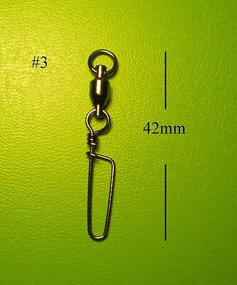 50x DFS size 3, BALL BEARING SWIVELS WITH COASTLOCK SNAP SIZE lures