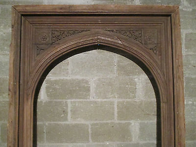 ~ Antique Carved Gothic Archway Oak 50 X 111  ~ Architectural Salvage ~