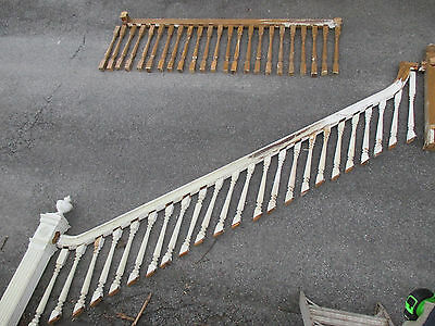 ~ Antique Staircase 2 Newel Post, Railing And Balusters ~ Architectural Salvage~
