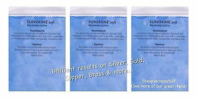 Sunshine Silver Gold Brass Copper Polishing Cloth SOFT Jewelry Jewellery Cloth 3