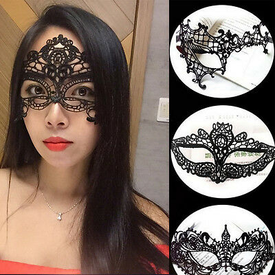 Sexy Women Lace Costume Masquerade Party Fancy Dress Halloween Eye Face Mask NEW