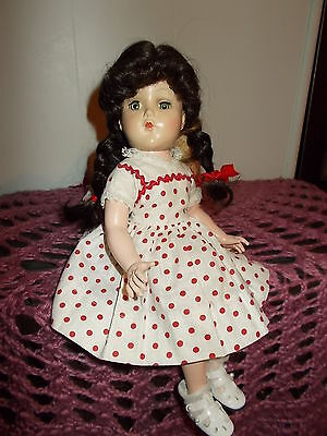 Vintage A&b Hard Plastic Doll 1950,s 14 Inch