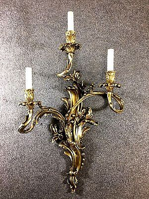 Louis XV style Bronze Three-Light  Rococo French Sconce