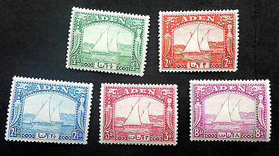 Aden #1 #4-6 #8 Mint Hinged Traditional Sail Boat Better Values Cat.$28