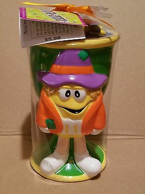 Galerie M&M's Yellow Halloween Scarecrow Collectible Goblet with M&M's