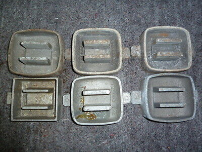 6 Weight Moulds all 3 pound Scuba dive diving lead weight