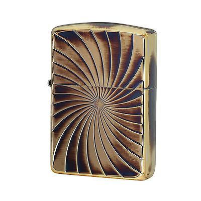 Authentic Zippo Armor Screw Brass Case Double Sided 1201S495
