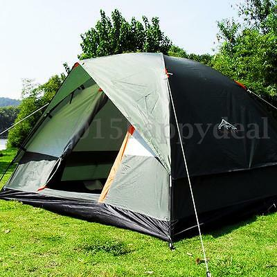 4 Person Camping Tent Double-layer Strong Waterproof Family Outdoor Hiking Trip