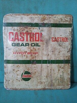 Vintage Old Castrol Gear Oil Ad. Litho Tin Sign Board collectible #104