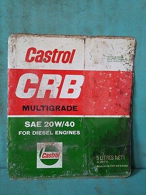 Vintage Old Castrol CRB Plus Oil Ad. Litho Tin Sign Board collectible #112