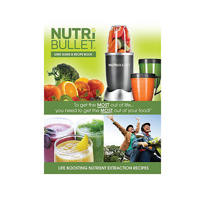 Nutribullet Recipe Book - Soft Cover Paper Back Printed Book