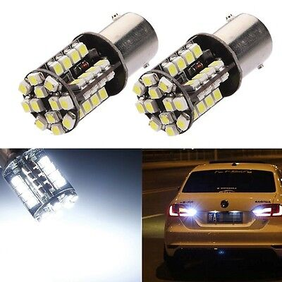 2x BOMBILLAS 1156 BA15S P21W LED 44SMD CANBUS COCHE TURN SIGNAL LIGHT BLANCO 12V