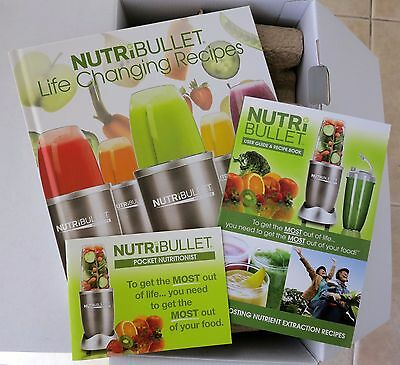 Nutribullet User Guide , Recipe Book, Life Changing Recipe Book