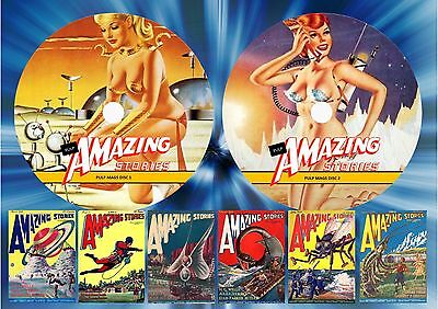 Amazing Stories Pulp Magazines On Two Dvd Rom's (Printed Discs)