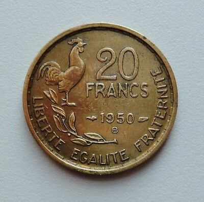 GEORGES GUIRAUD 20 francs 1950 B 4 plumes