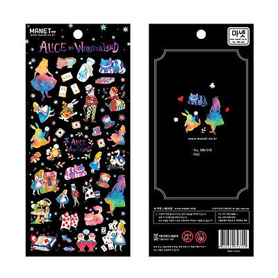 beautiful Alice in Wonderland translucent stickers DIY Planner accessory