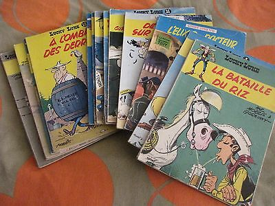 lot de 16 albums  lucky luke  broché