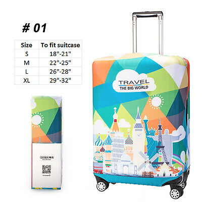 "18""-30""Spandex Travel Suitcase Protection Luggage Cover Elastic Dust-proof S/M/L"