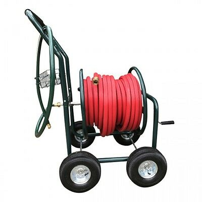 NEW HF 18mm Red Fire Hose with ZORRO Steel Cart Trolley & Brass Connectors