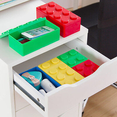 Novelty Brick Cosmetic Organizer Travel Makeup Case Table jewelry Storage Boxes