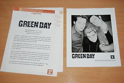 Rare Green Day Press Release & Photo - Reprise 2000 'warning' Press Pack