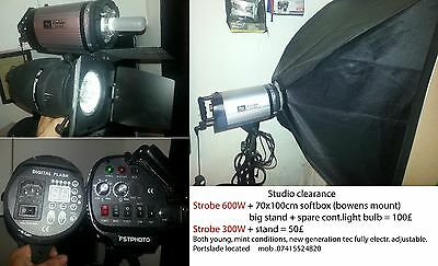 studio strobe flash 600w + 300w