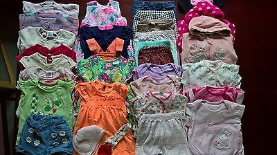 Massive Bundle Of Baby Girls Clothes - Aged 9 - 12 Mths - Bundle 1 - 30 Items!!!