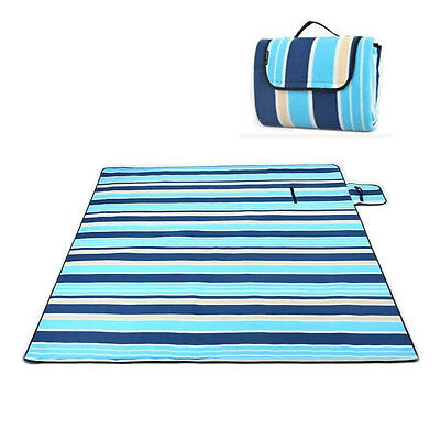 Picnic Blanket Large Rug Waterproof Outdoor Camping Soft Fleece Beach Mat Travel