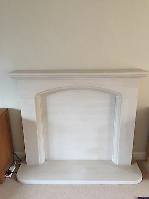 Marble Fireplace, Surround And Hearth